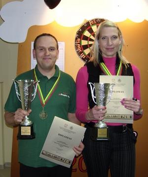 2009 metų čempionai - Erika Bagdonavičienė ir Darius Labanauskas